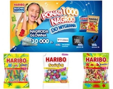 """Loteria promocyjna HARIBO """"Słuchaj z radością"""""""